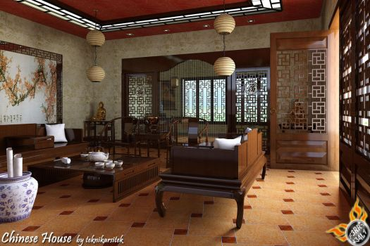 Chinese Living Room by teknikarsitek