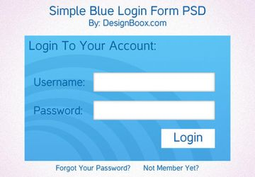 Simple Blue Login Form Free PSD by mansy-graphics