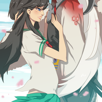 Sesshoumaru and Kagome by ymstr