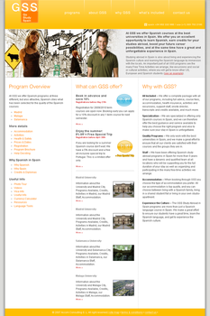 Web site design for GoStudySpain by 451studio