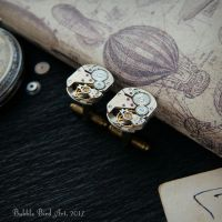 Steampunk cufflinks for both men and women by IkushIkush