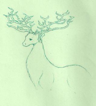 Stag-like creature by Dreamly-Bay