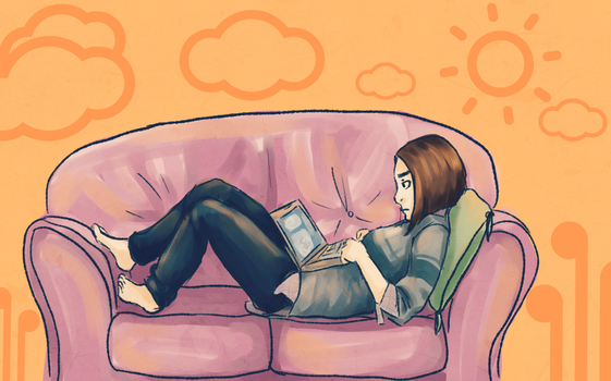 Lazy Day of Social Networking by mohoono-chan