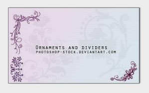 Ornaments and dividers by photoshop-stock
