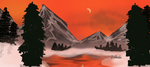 Sunset Mountain Winter by Dgastin