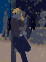 A gentleman amongst the night lights  by CrimsonGlow