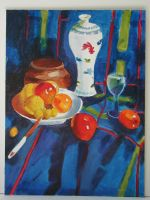 Oil Paintings II- Blue Fruits by kameeko