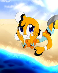 Fish sunning on the beach by TheSparklyMisfit