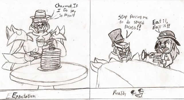 Request #3: Pancakes- Expectation Vs. Reality by NeonNeoz
