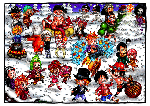 Winter feeling with ONE PIECE! by Captain--Ruffy