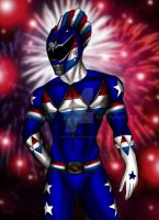Mighty Morphin Power Rangers (Patriot Ranger) by blueliberty