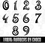 Tribal Numbers by ekoed