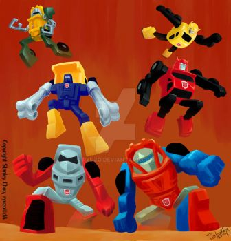 G1 Minibots, Roll Out! by ryuzo