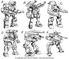 Mecha Zone 1.5 sketches part 2 by Mecha-Zone