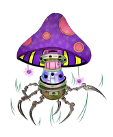 Cybernetic Mushroom by artiststudio-us