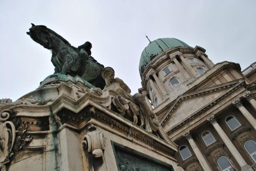 Part of Buda castle. by lyrusa
