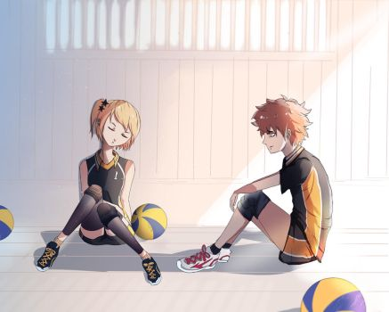 I'll Be Here - Hinata and Yachi by KomiAnimations