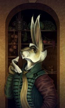 Basil Stag Hare Portrait by YasminFoster