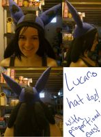 Lucario Hat Take Two by Count-Von-Sammitchy