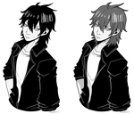 [Commission] Katashi P5 Style for snubby25 by azume-adopts