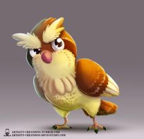 Kanto - Pidgey by ArtKitt-Creations