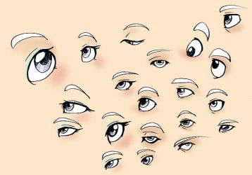 Eyes Reference by ThirdPotato