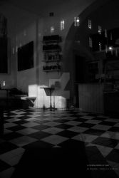 Closed Bakery at Night by teheimar