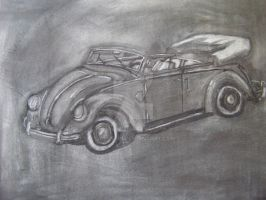 VW Bug Convertible Charcoal by Jetster1