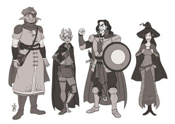 DnD Yawning Portal Character Line Up by Quackamos