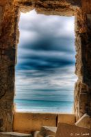 Window on the winter sea by Brompled