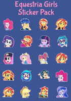 Equestria Girls Sticker Pack by Ambassad0r