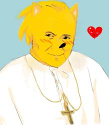 Kawaii Pope John Paul II by sanickfan2137