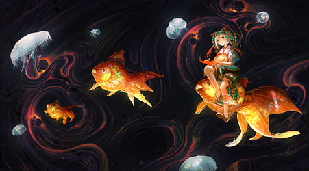 Among the Flying Fish by Eternalesque