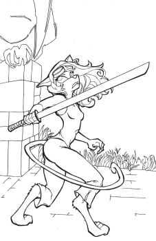 Line art for cover of Chapter 3: The Bridge of No by wombat-rue