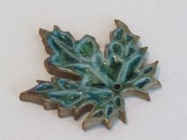 Ceramic Green Leaf by CrystalDream1127