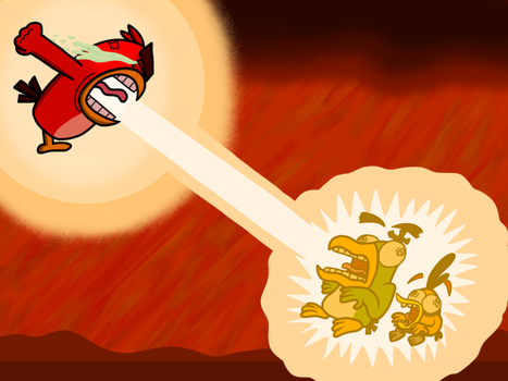 Red's Raging Power by AngryBirdsandMixels1
