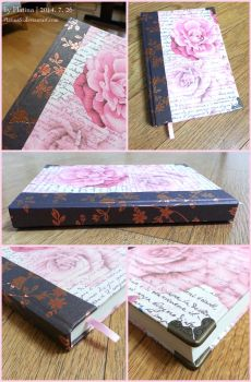 [bookmaking] Antique Rose Sketchbook by PlatinaSi