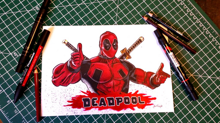Deadpool Drawing by CanadianEhh