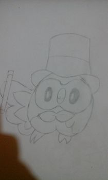 rowlet the magician by Marcos1094