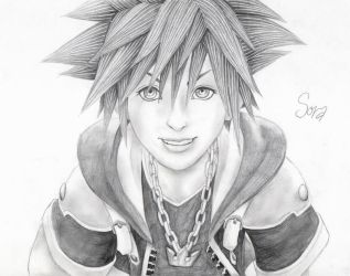 Sora and his smile by PapouJunkie