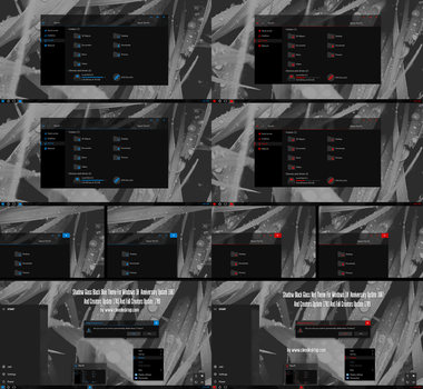 Shadow Black Glass Blue and Red Theme Windows 10 by Cleodesktop