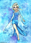 Elsa Watercolor (Prints for Sale) by PasitheeArt