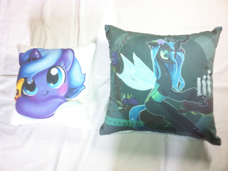 Luna and Chysalis Limited Edtion Cushion by Kardien