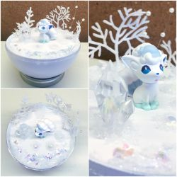 PBT Collage - Alolan Vulpix Winter by TheVintageRealm