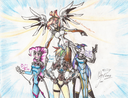 Equestria girls - Overwatch character by X-Force02ranger