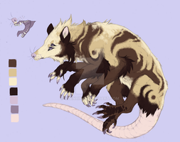 Opossum Creature Adoptable Auction CLOSED by ZombieMutt13