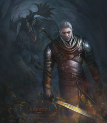 Geralt fanart by JulijanaM