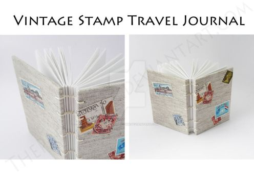 Vintage Stamp Travel Journal A6 by ThePressGang-ink