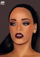 Another portrait of Rihanna by murilonunesjose