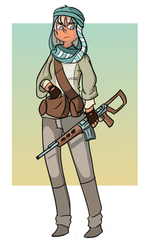 Bedouin Sniper by terminarch